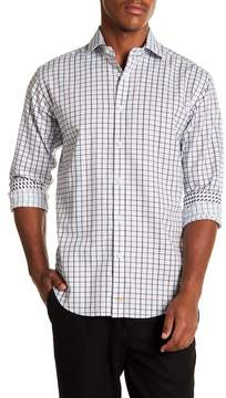 Thomas Dean Multicolroed Check Long Sleeve Sport Fit Shirt