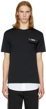 Neil Barrett Black and White Gang Badge T-Shirt