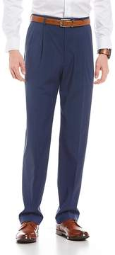 Roundtree & Yorke Ultimate Comfort Travel Smart Plaid Regular Comfort Fit Dress Pants