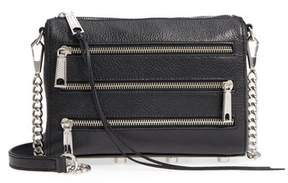 Rebecca Minkoff Mini 5 Leather Crossbody - BLACK - STYLE