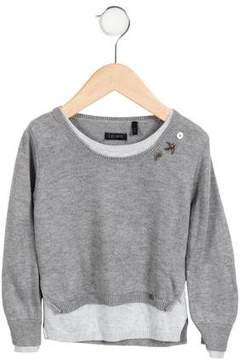 Ikks Girls' Embellished Sweater