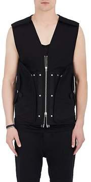 Helmut Lang Men's Snapped Stretch-Cotton Vest
