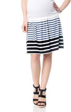 A Pea in the Pod Under Belly Striped Maternity Skirt