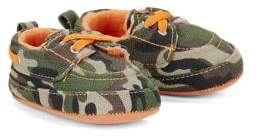 Little Me Baby Boy's Camo Boat Shoes