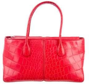 Tod's Alligator Handle Bag