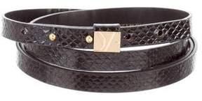 Diane von Furstenberg Embossed Wrap Belt