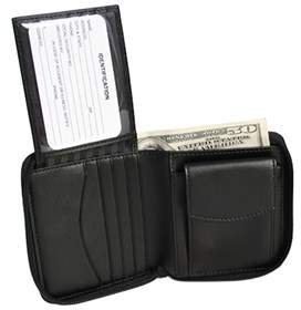 Royce Leather Unisex Zip Around Wallet 120-6.