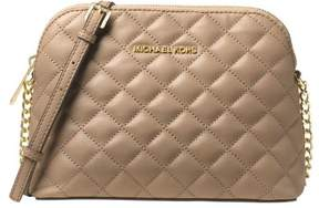 Michael Kors Cindy Large Dome Crossbody Quilted Costa Lamb 18K - Bisque - 32T6GCPC7L-097 - BISQUE - STYLE