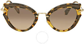 Miu Miu Light Brown Gradient Cat Eye Sunglasses
