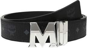 MCM Claus Reversible Silver Buckle Belt Men's Belts