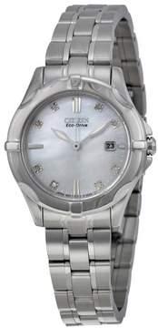 Citizen Silhouette Diamond EW1930-50D Silver Analog Eco-Drive Women's Watch