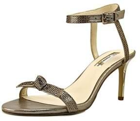 INC International Concepts Laniah Women Open Toe Canvas Gold Sandals.