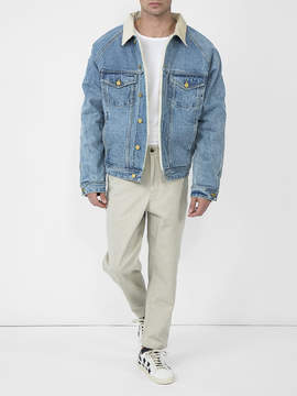 Fear Of God Selvedge denim alpaca trucker jacket