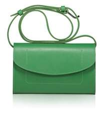Joanna Maxham The Runthrough Mini Bag In Jade Nappa Leather (nkl).