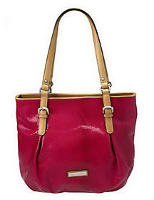 As Is Etienne Aigner Snake Embossed Leather Riveria Tote