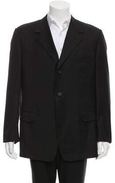 Gianni Versace Wool Windowpane Blazer