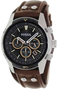 Fossil Men's CH2891 Coachman Leather Watch, 45mm