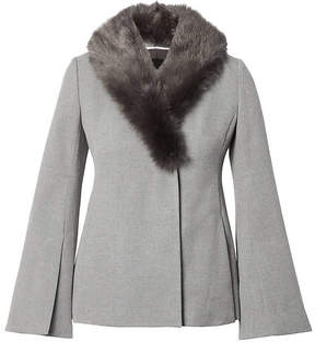 Banana Republic Bell-Sleeve Jacket with Removeable Faux Fur Collar