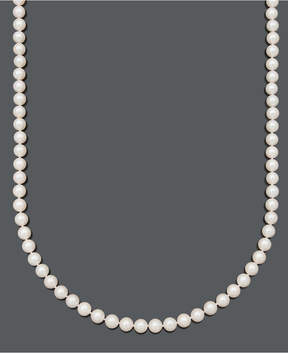 Belle de Mer Pearl Necklace, 20 14k Gold A+ Cultured Freshwater Pearl Strand (7-1/2-8mm)
