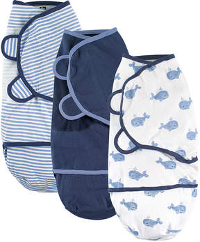 Hudson Baby Blue Whale Swaddle Wrap Set