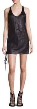 RtA Lace-Up Leather Dress