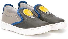 Fendi Kids lightbulb embroidered sneakers