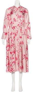 Brock Collection Floral Print Silk Dress