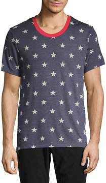 Alternative Men's Star-Print Drop Neck Tee