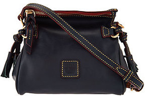 Dooney & Bourke As Is Florentine Leather Mini Zip Crossbody