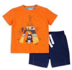 Petit Lem Baby's Two-Piece Tee & Shorts Set