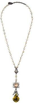 Dannijo Resin Embellished Lavalier Necklace