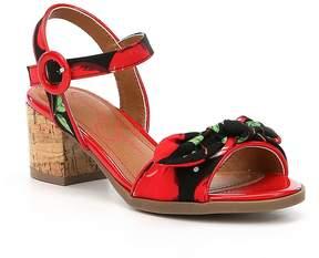 Jessica Simpson Girls' Cherry Bow Detail Ankle Strap Block Heel Sandals