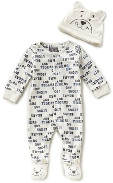 Joules Baby Boys Newborn-12 Months Bear-Print Footed Coverall & Hat Set