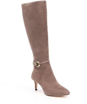 Antonio Melani Fernas Suede Wide Calf Dress Boots