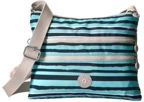 Kipling Alvar Printed Crossbody Bag Cross Body Handbags - OCEAN BREEZE PURPLE - STYLE