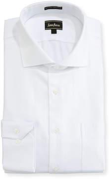 Neiman Marcus Regular-Finish Classic-Fit Dobby Dress Shirt