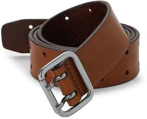 Saks Fifth Avenue Men's Double Prong Leather Belt