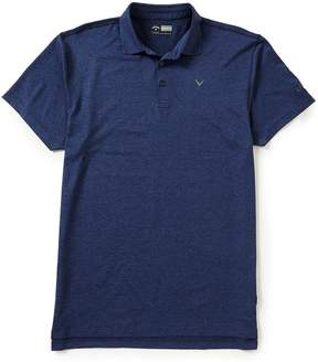 Callaway Golf Big & Tall Opti-Stretch Short-Sleeve Heathered Polo Shirt