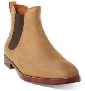Ralph Lauren Dillian Ii Suede Chelsea Boot Tan 10