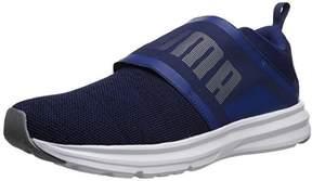 Puma Men's Enzo Strap Knit Sneaker,Blue Depths Black,9 M US