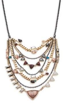 ABS by Allen Schwartz Layered Stone-Accented Statement Necklace