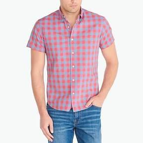 J.Crew Mercantile Slim short-sleeve heathered cotton shirt