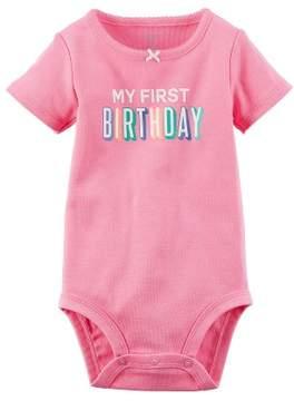 Carter's Baby Girls' First Birthday Bodysuit 9 Months