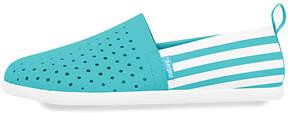 Native Iris Blue & Shell White Stripe Venice Slip-On Sneaker - Neutral