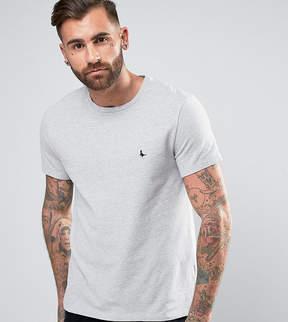 Jack Wills Elvaston Pique T-Shirt in Gray