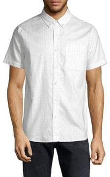 AG Adriano Goldschmied Dotted Cotton Button-Down Shirt