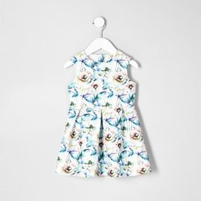 River Island Mini girls white floral prom dress