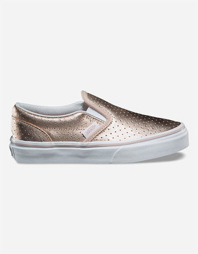 Vans Perf Leather Classic Slip-On Girls Shoes