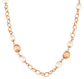 Honora As Is Cultured Pearl 10.0mm Ringed 36 Bronze Necklace