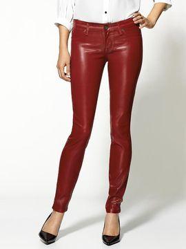 Gwen Stefani Red Leather Pants In La 2012 Popsugar Fashion